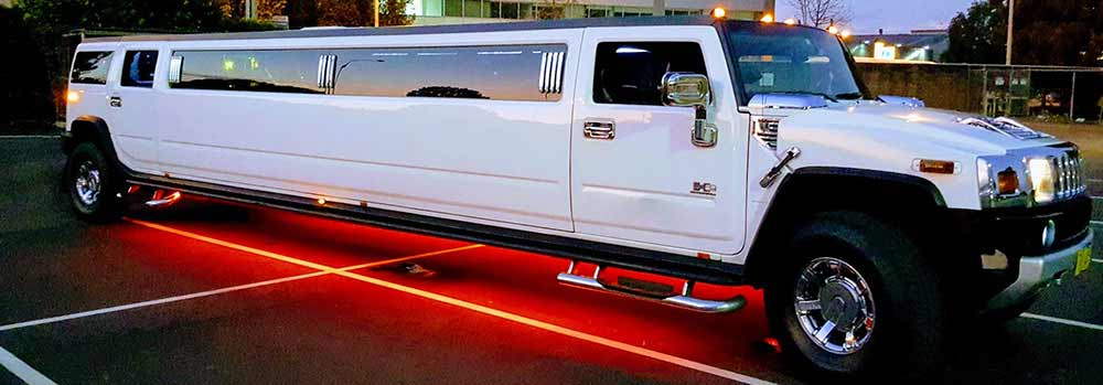limousine hummer bianco